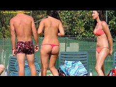 Topless Nude Teens Tanning Mix 1