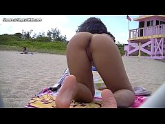 Nikki Brazil at a Nude Beach